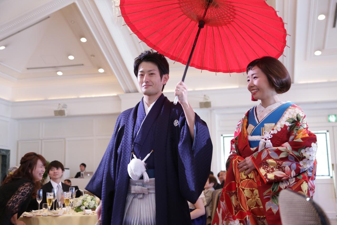 ビアンベール本店 和装婚 色打掛 結婚式