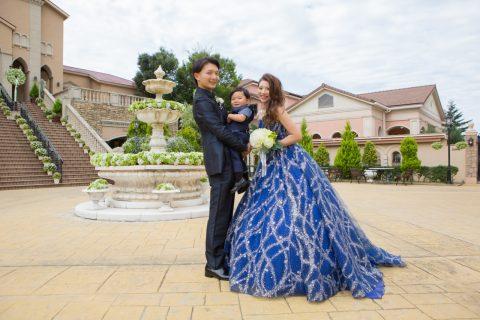 KIYOKOHATA marry KH-003 Navy ネイビー キラキラ宇宙ドレス カラードレス