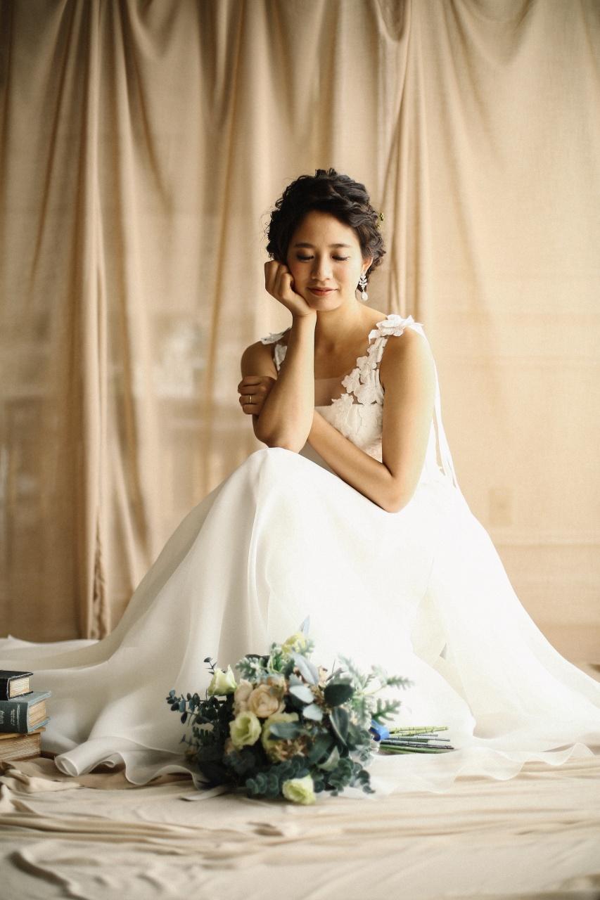 ウエディングドレス ナチュラル 結婚式 ビアンベール