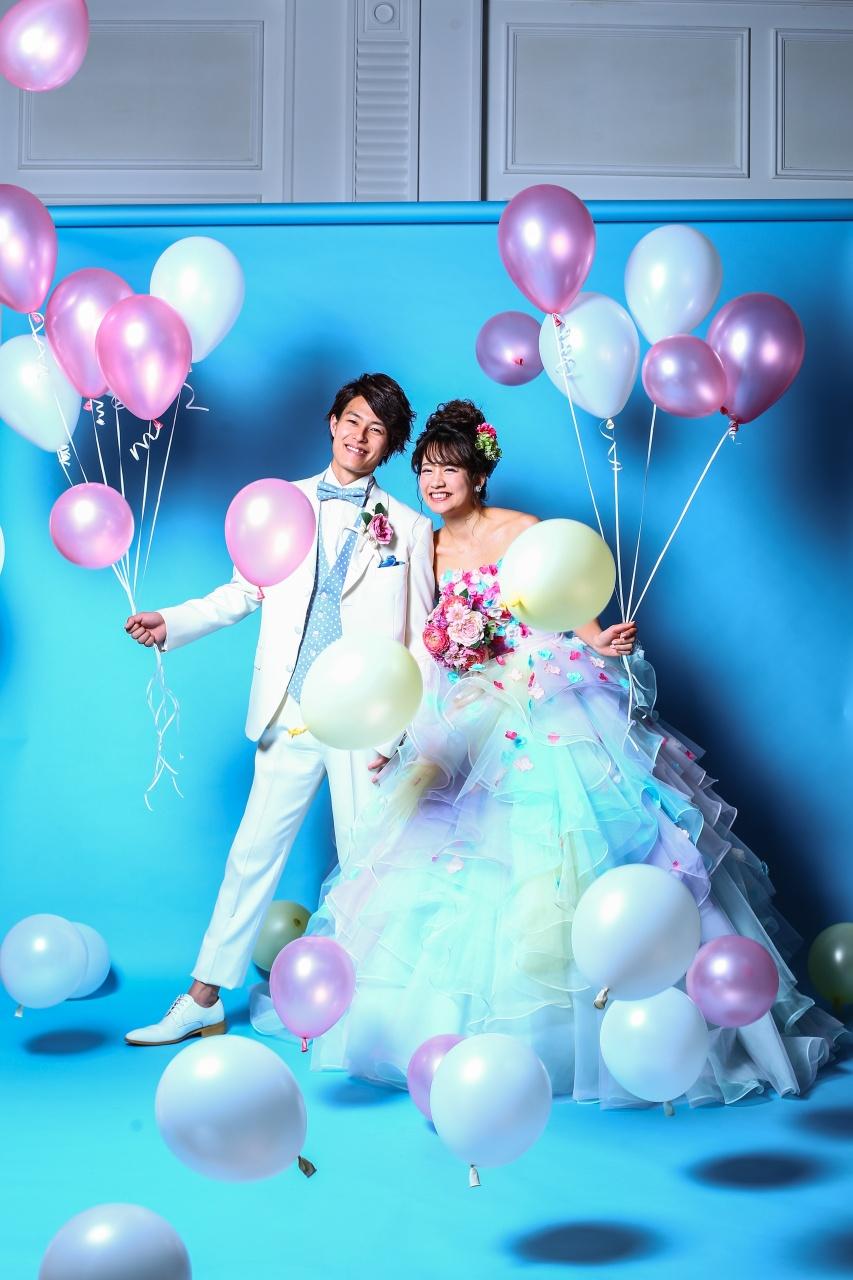カラードレス レインボードレス 結婚式
