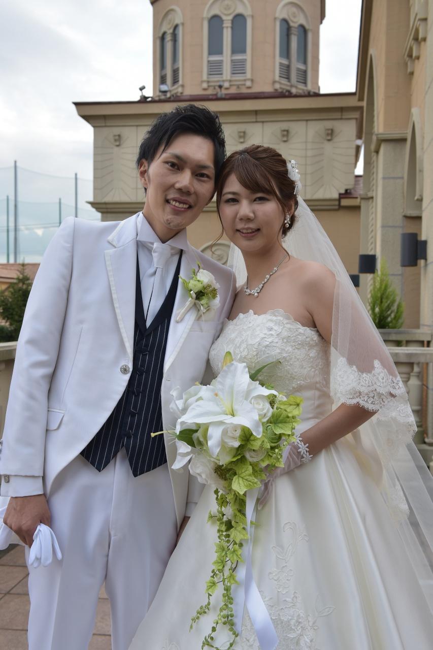 キャスケードブーケ 結婚式 花嫁
