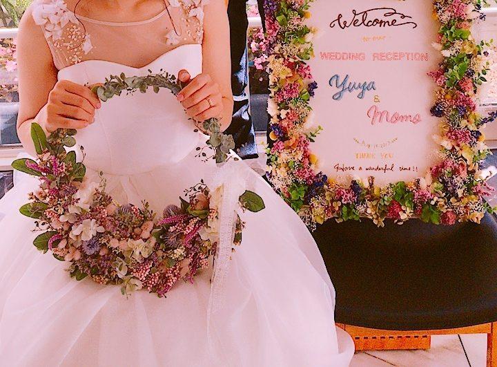 ビアンベール本店 リースブーケ 花嫁 結婚式