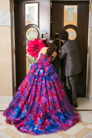 ビアンベール本店 新潟 結婚式場 カラードレス