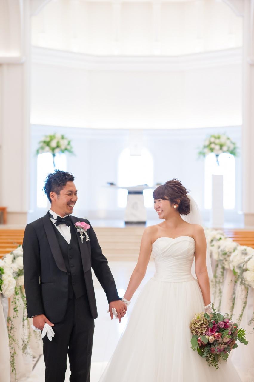 ウェディングドレス タキシード 新潟花嫁 チャペル式