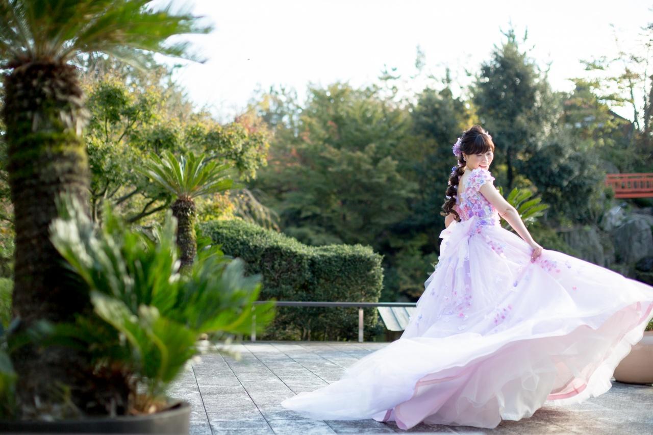 カラードレス プレ花嫁 かわいい 桂由美