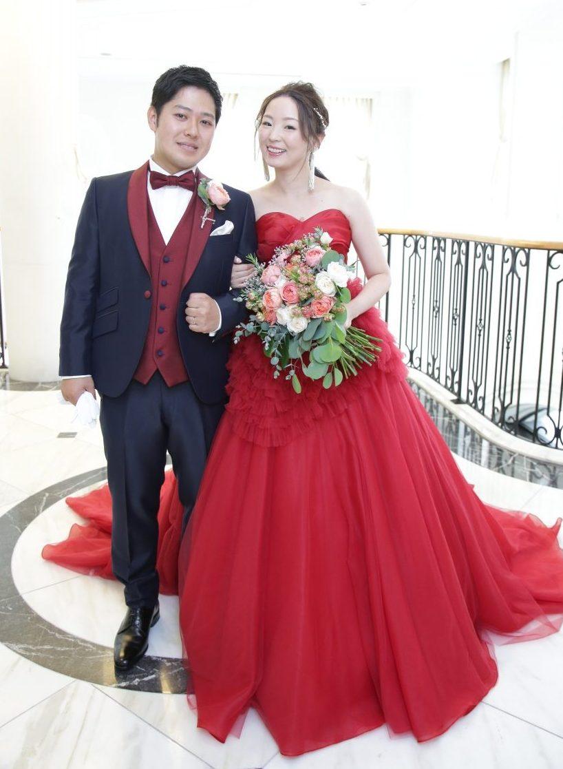 カラードレス リーフ かわいい 先輩花嫁