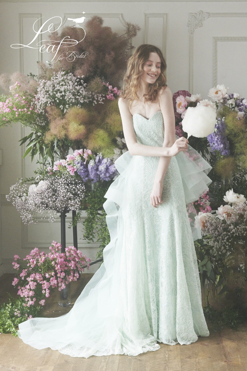 リーフ 新作ドレス 可愛い おしゃれ カラードレス