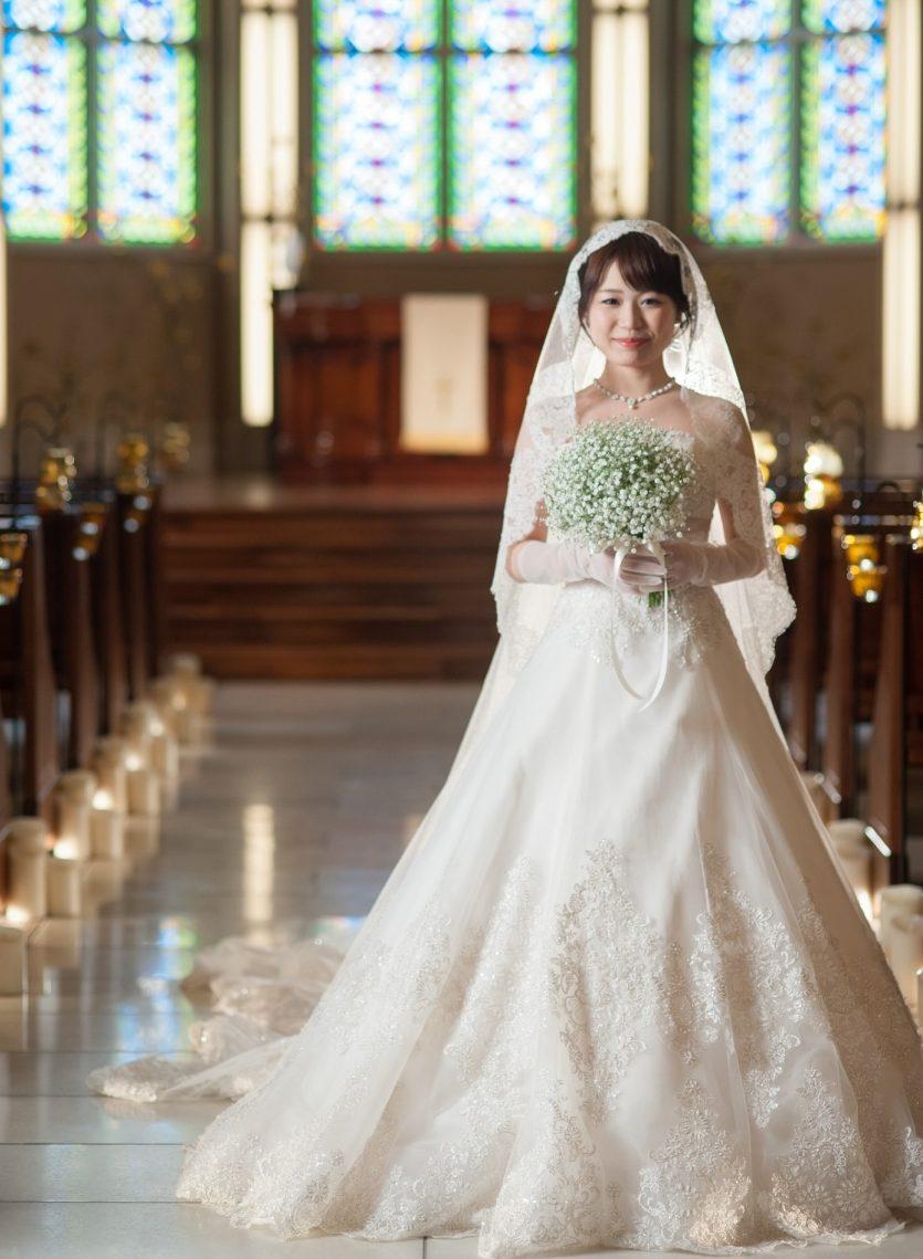 ウエディングドレス Aライン かわいい