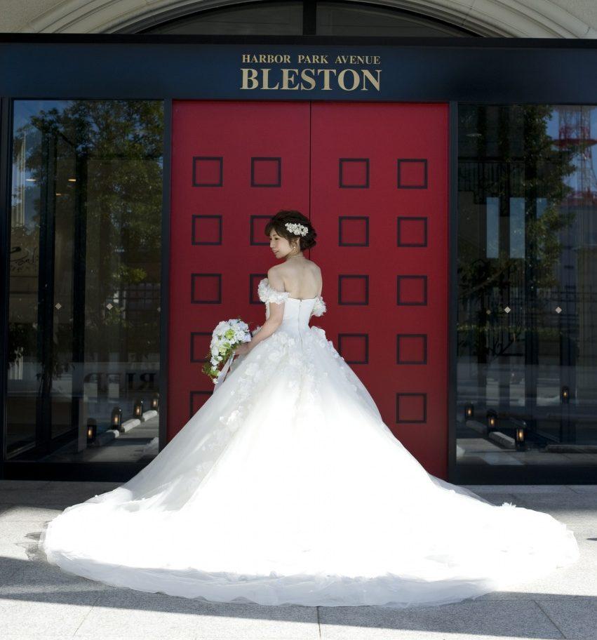 プリンセスライン かわいい ウエディングドレス