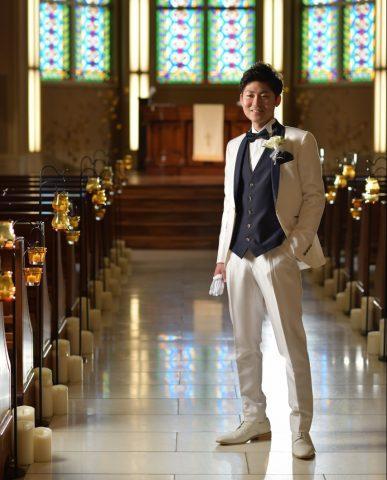 新郎へアー 髪型 結婚式