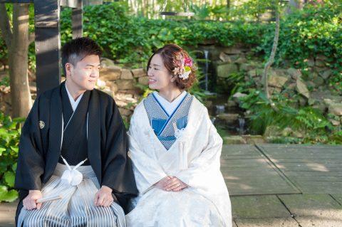 結婚式 ビアンベール本店 フォトウエディング 花嫁和装 白無垢 新郎和装 紋付袴