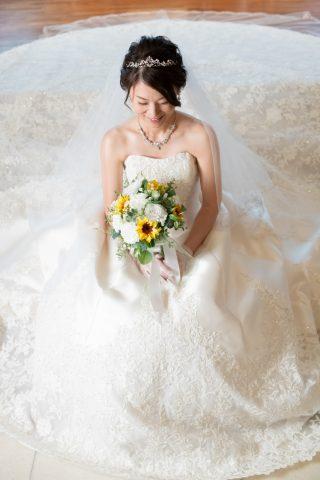 ビアンベール本店 ラウンドブーケ ブーケ 白ドレス