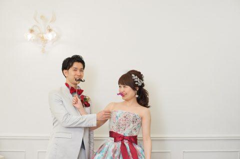 ビアンベール本店 赤 カラードレス 結婚式