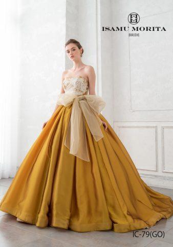 イサムモリタ 新作ドレス かわいい おしゃれ カラードレス