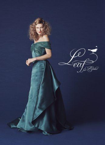 リーフ 新作 ドレス かわいい おしゃれ カラードレス