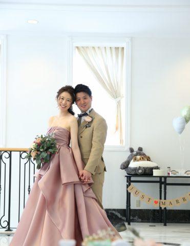 カラードレス 花嫁 くすみカラー 結婚式 おしゃれ かわいい