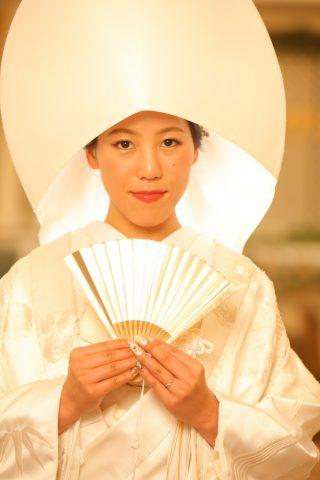 ブレストン 白無垢 綿帽子