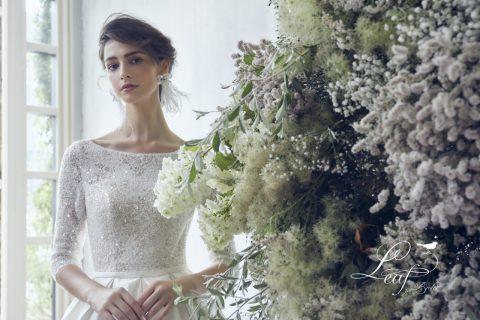 【新作ドレス】どこにでもありそうでどこにもない旬なドレス=Leaf for Brides(リーフフォーブライズ)