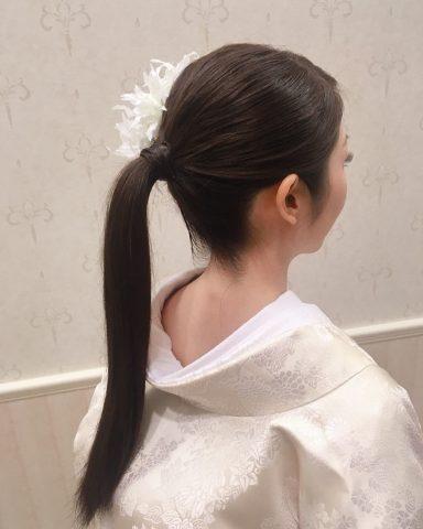 ウェディングドレス ヘアー 花嫁ヘアスタイル