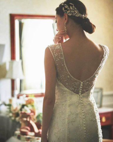 ウェディングドレス ヘア 花嫁ヘアスタイル