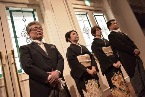 家族衣裳 モーニング 江戸褄 結婚式