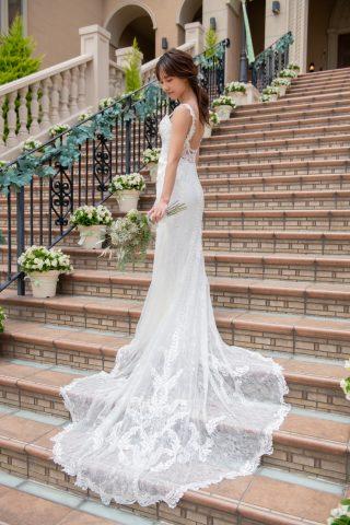 フォトウェディング 大階段 マーメイドドレス