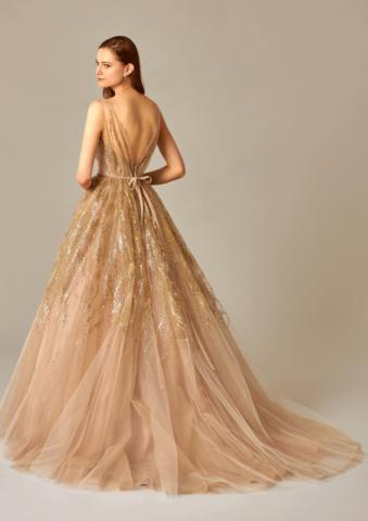 新潟 ドレス カラードレス ヌーディ―ベージュ ナチュラルカラー ビアンベール ビアンベール本店 フォトウエディング 大人婚