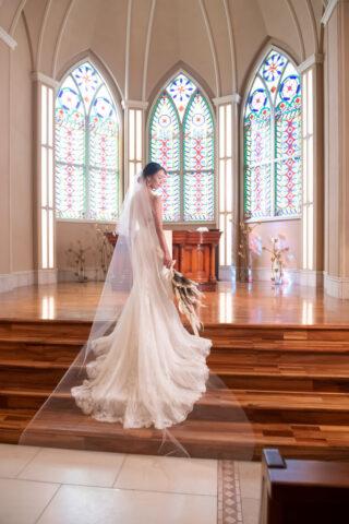 提携外式場での結婚式でもOK!ドレス持込料負担します♡