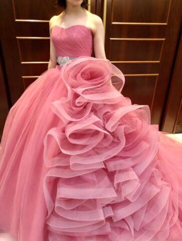 カラードレス キヨコハタ ピンク