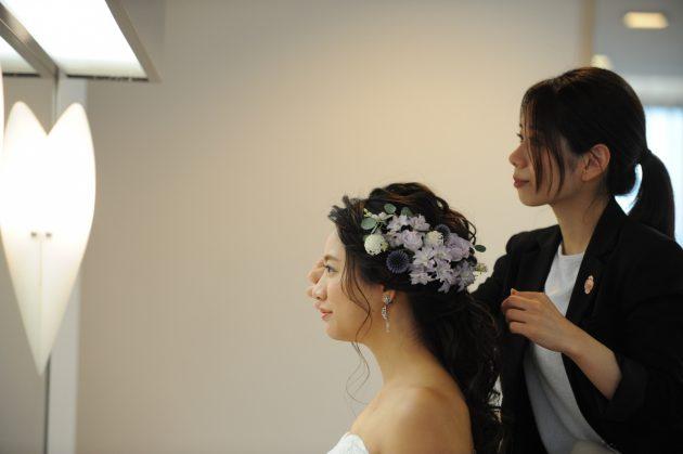 とっても特別な結婚式のヘアメイクは♡事前のヘアメイクリハーサルで当日は安心♡