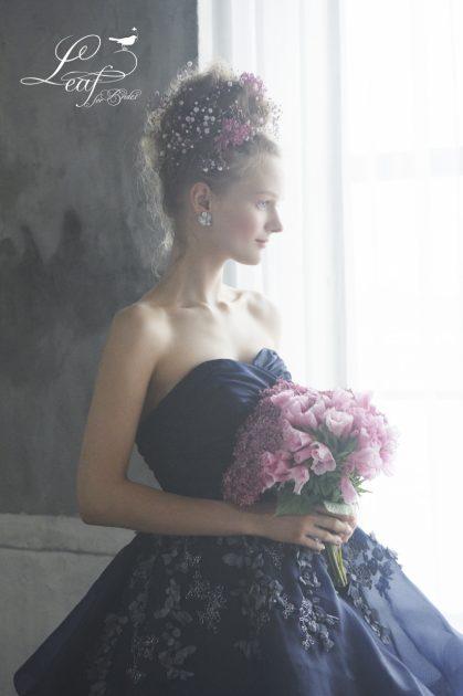 続々と新作が入荷しております♡【Leaf for Brides】の大人かわいいカラードレス♡