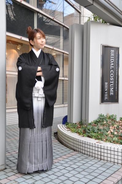 凛と際立つ黒☆伝統紋服