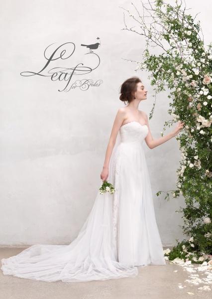 【もっと素敵に美しくなりたい】花嫁心をくすぐるドレス〝Leaf for Brides〟