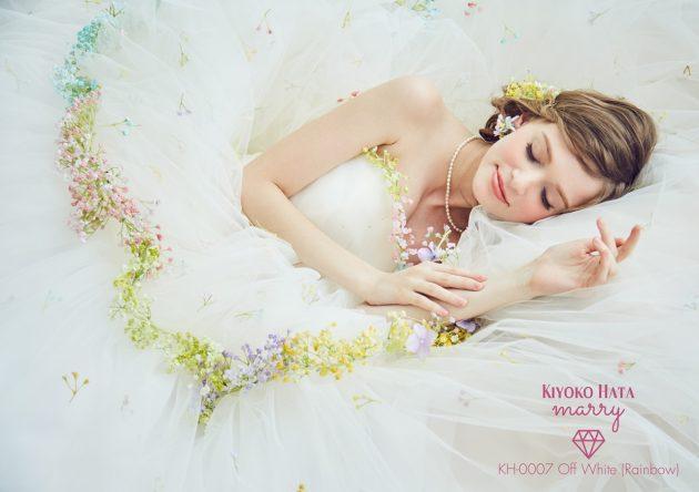 "【SNSにのせたくなる""感動するほど可愛い!♥""】♯かすみ草ドレス で愛され花嫁になる!!"