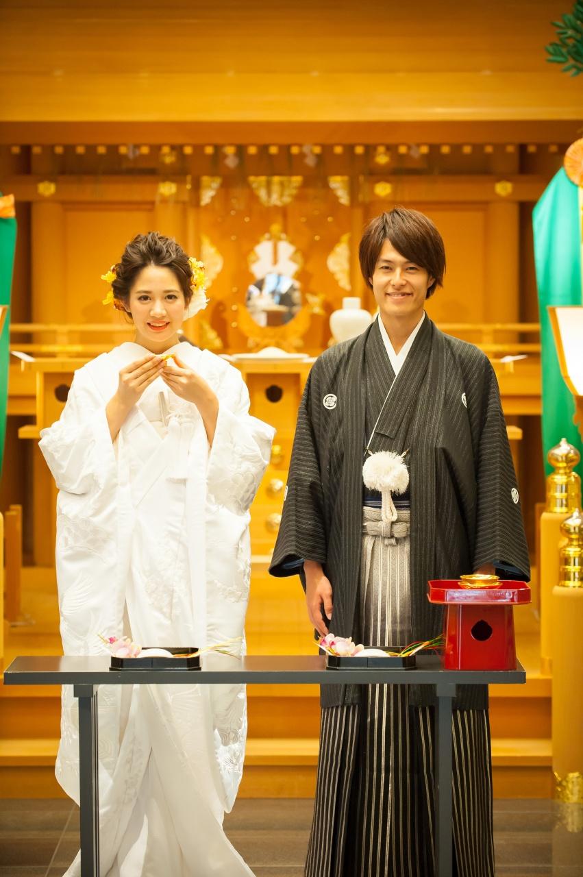 """""""古式ゆかしき厳かな神殿!"""" 和婚フォトプラン"""