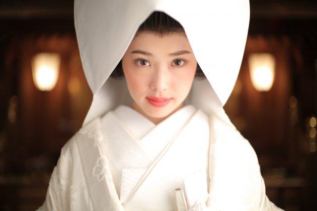 和婚花嫁の憧れ【白無垢×綿帽子】スタイル