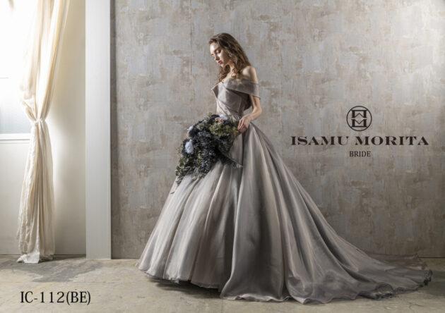 トレンドのくすみカラードレスのご紹介【新作:ISAMU MORITA~イサム モリタ~】