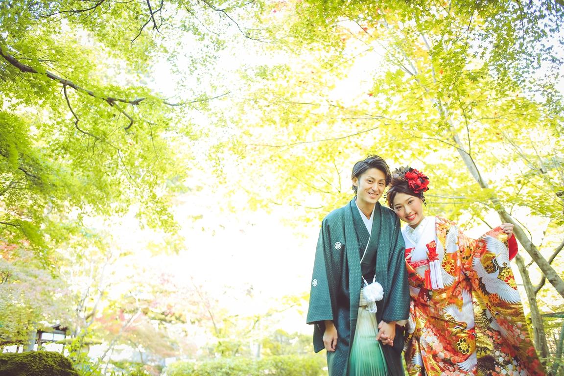 花嫁衣裳はもちろん新郎紋服も豊富な品揃えのビアンベール★挙式、披露宴での着用はもちろん、写真撮影でも凛々しい紋服姿を残しませんか?