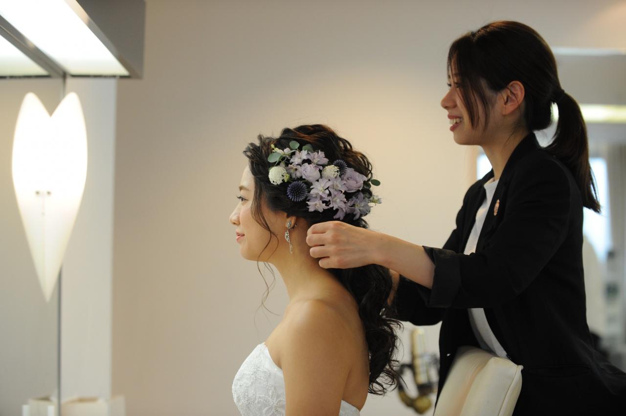 誰よりも可愛く・オシャレに!リアル花嫁さまから学ぶ最新ヘアスタイル特集!1