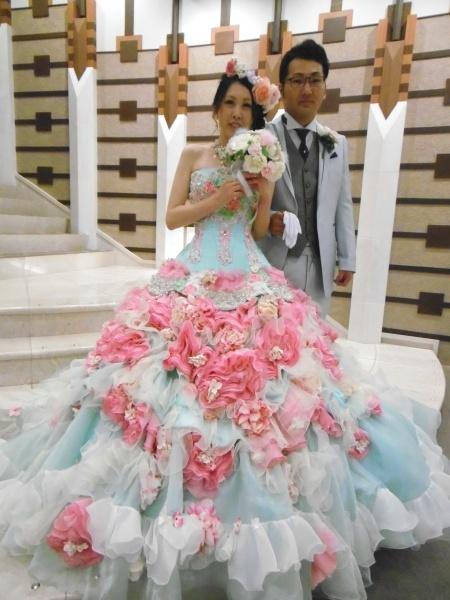 ステラ デ リベロ花咲くドレスのフォトウェディング
