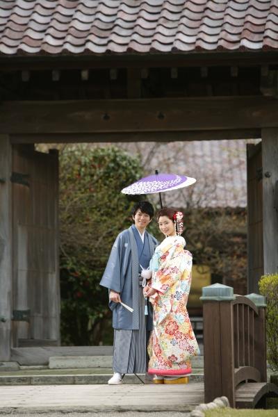 ふるさとフォト 日本庭園をバックに 和ロケーション
