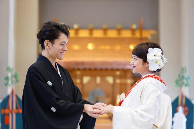 白無垢 紋付袴 神前 和婚