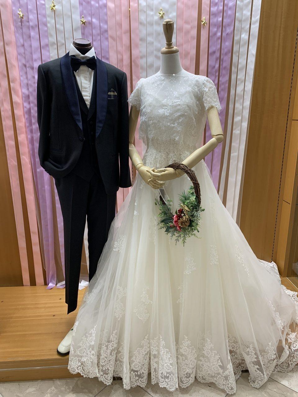 ♡スタッフコーデ♡ナチュラルデザインのウエディングドレス!